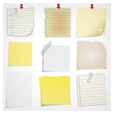 مجموعه دفترچه های یادداشت و نونت برداری بصورت لایه باز