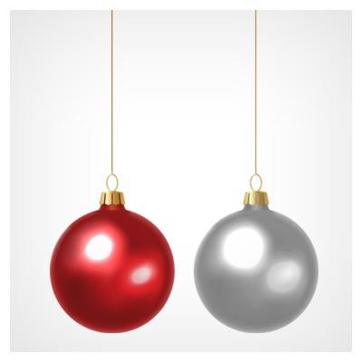 دانلود رایگان وکتور گوی های شیشه ای کریسمس
