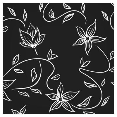 وکتور پترن گلهای خطی در بکگراند مشکی