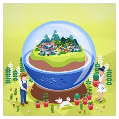 وکتور شهرنشینی ، محیط زیست و محافظت از آن