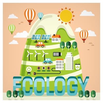 وکتور اکولوژی و طبیعت بصورت لایه باز