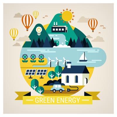 فایل برداری (وکتور) با موضوع انرژی سبز
