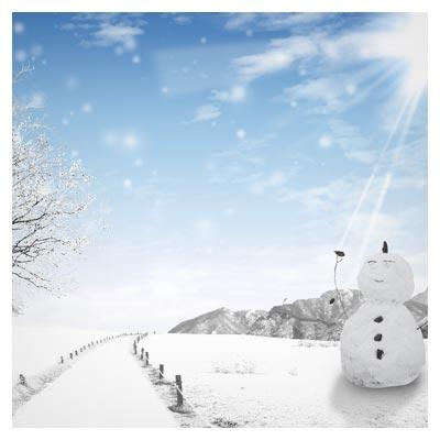 فایل پی اس دی لایه باز زمستان و طبیعت برفی