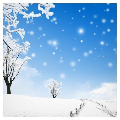 طبیعت برفی بصورت لایه باز (Snow Nature Psd)