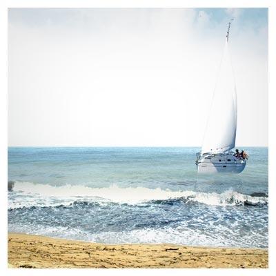 لایه باز ساحل دریای مواج بصورت لایه باز