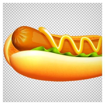 فایل دوربری شده ساندویچ سوسیس (png)