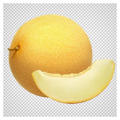 تصویر png ترانسپرنت (بدون پس زمینه) کارتونی خربزه (Cantaloupe Melon PNG Clipart)