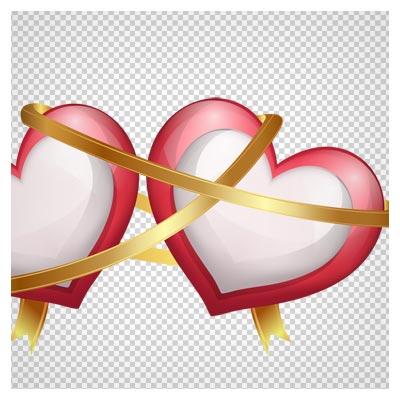 png دوربری شده قلب های عاشق