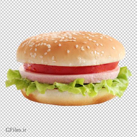 فایل دوربری شده همبرگر (بدون پس زمینه)