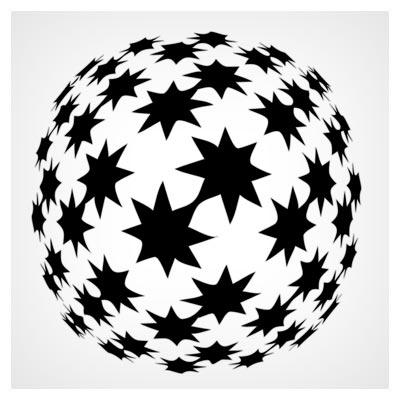 دانلود رایگان شیپ فتوشاپ (گوی ستاره ای)