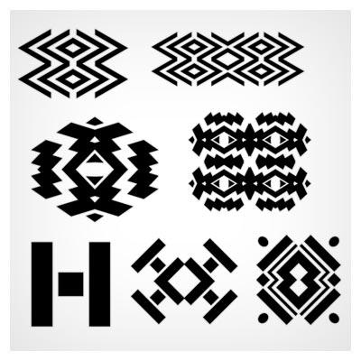 مجموعه 7 شیپ (Shape) گلیمی شکل (شکلهای متنوع)