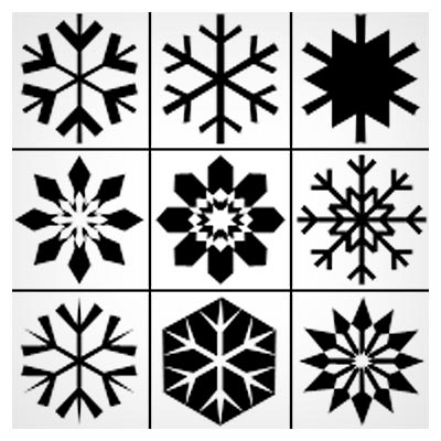 مجموعه شکلهای مختلف برف (Shape فتوشاپ)