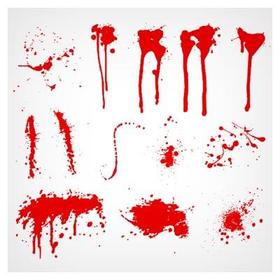 مجموعه شیپ های مختلف خون (رنگ پاشیده)