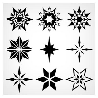 مجموعه 18 شیپ (Shape) متنوع ستاره ای