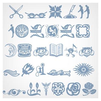 فونت مجموعه علامت های مختلف (Davys Font)