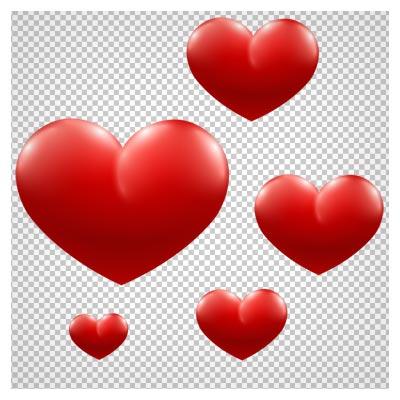 مجموعه قلب های بدون پس زمینه با فرمت png