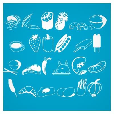 دانلود فونت مجموعه المان های غذا