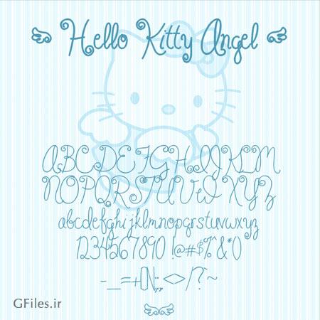 دانلود فونت هلو کیتی (Hello Kitty Angel)