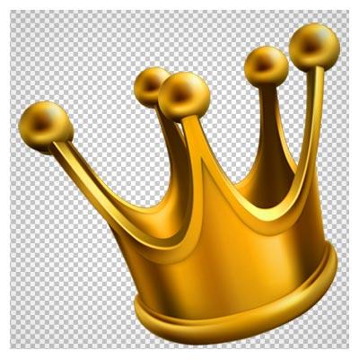 فایل png تاج پادشاهی طلایی (بدون پس زمینه)