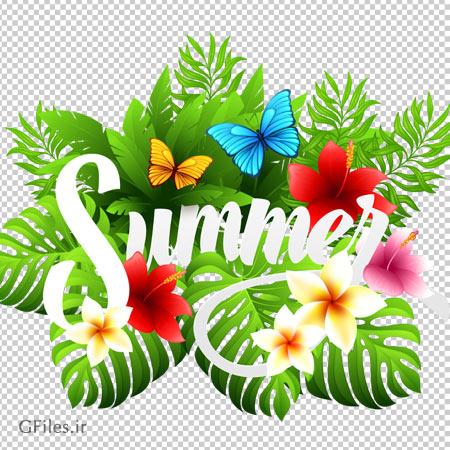تصویر بنر png تابستان (Summer Banner Png)