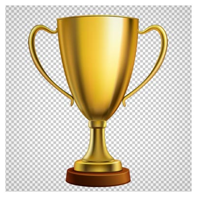 کاپ قهرمانی دوربری شده طلایی (بدون پس زمینه)