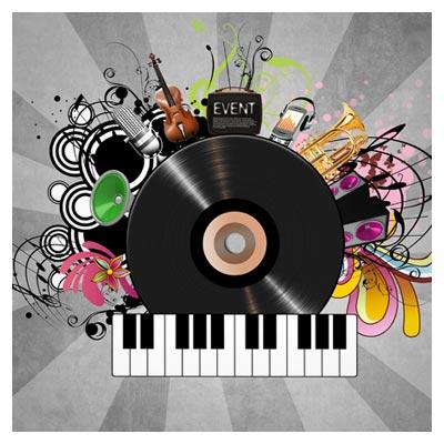 فایل psd موسیقی و وسایل موزیک بصورت لایه باز