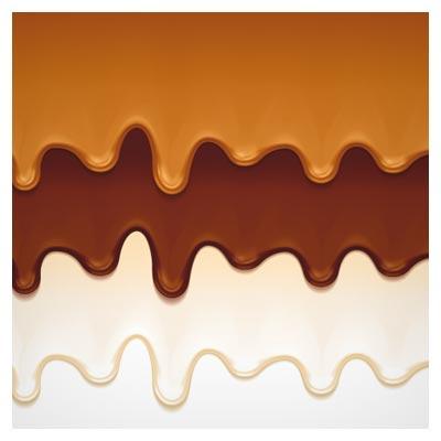 پس زمینه شیر شکلاتی چکیده شده وکتور (لایه باز)