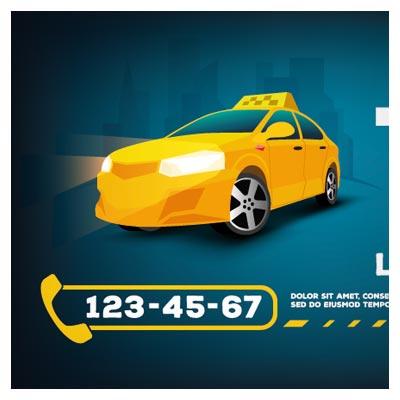 پوستر وکتوری تاکسی سرویس زرد