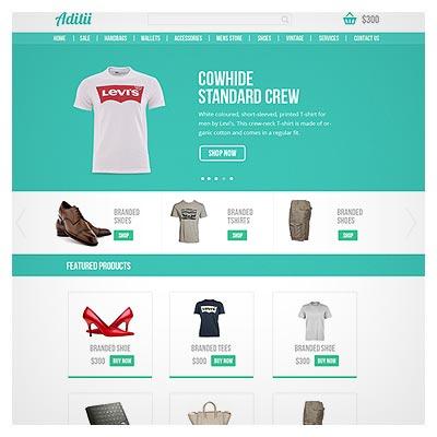 قالب سایت تجاری و فروشگاهی لایه باز PSD