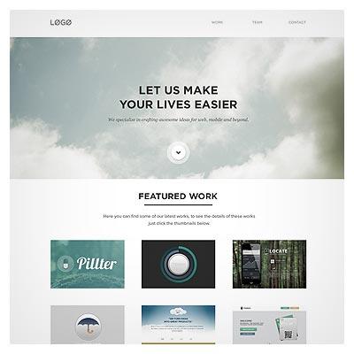 صفحه ایندکس قالب سایت چندمنظوره با سبک طراحی فلت
