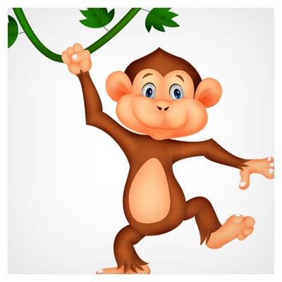 دانلود رایگان عکس کاراکتر میمون بازیگوش