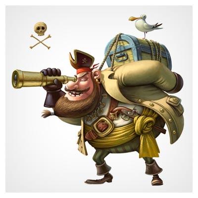 عکس با کیفیت از کاراکتر کارتونی دزد دریایی