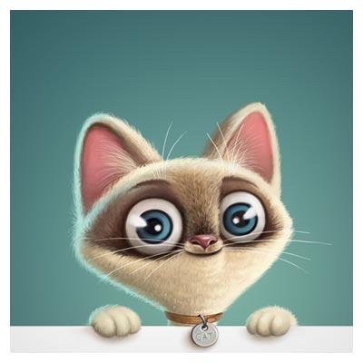 دانلود کاراکتر کارتونی گربه با کیفیت بالا