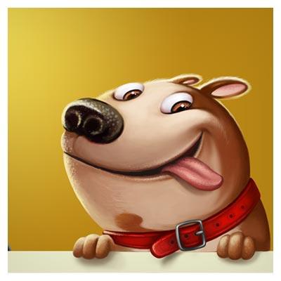 دانلود عکس با کیفیت کارتونی سگ شکمو !