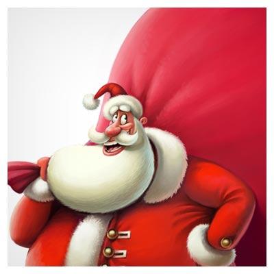 عکس با کیفیت بابانوئل قرمز !