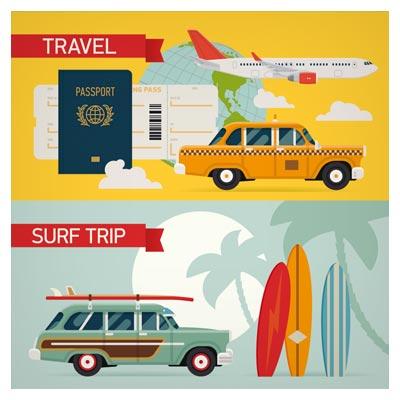 وکتور وسایل و خودروهای مسافرتی و گردشگری (هواپیما ، تاکسی)