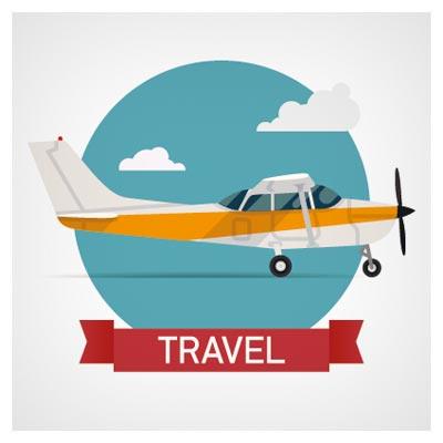وکتور سفر با هواپیمای شخصی (لایه باز)