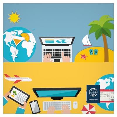 بنر لایه باز با موضوع جستجو برای مکان های دیدنی و سیاحتی