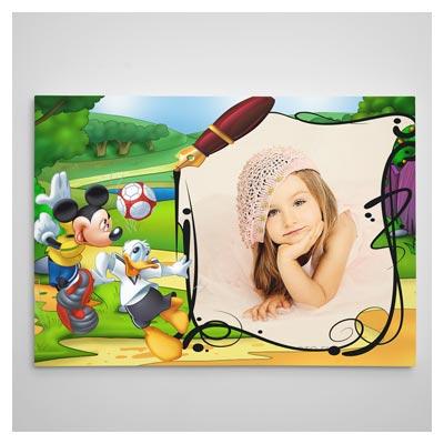 دانلود Frame کودک با حاشیه کارتونی میکی موس (قاب و تخته شاسی)