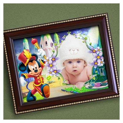 فایل psd قاب و فریم با طرح میکی موس مناسب برای تخته شاسی کودکانه