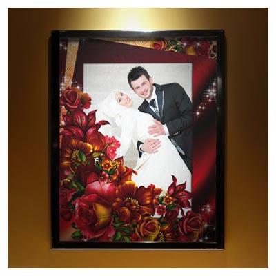 قاب عروس (فریم خانوادگی) بصورت لایه باز