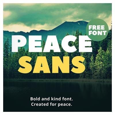 فونت رایگان لاتین Peace Sans با دو فرمت ttf و otf