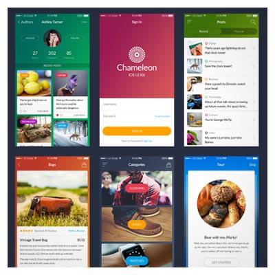 مجموعه صفحات UI و گرافیک اپ اندوریدی