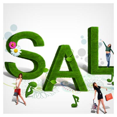 لایه باز psd خرید سبز (Shopping PSD File)