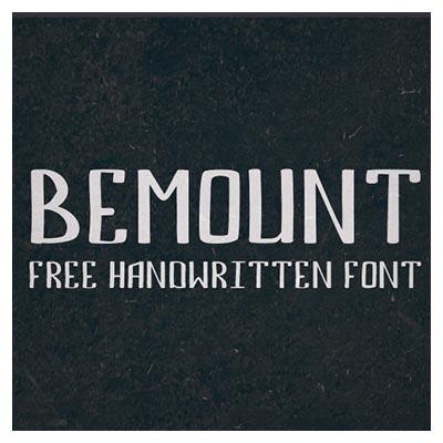 فونت لاتین Bemount Line (در دو حالت تو پر و هاشور)