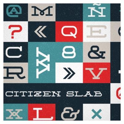 فونت رایگان انگلیسی citizen slab