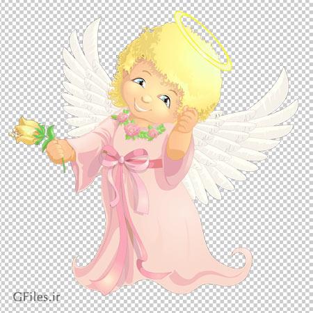 فایل بدون پس زمینه فرشته کوچولو (دوربری شده)
