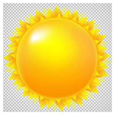 فایل با کیفیت بدون زمینه خورشید (فرمت png)