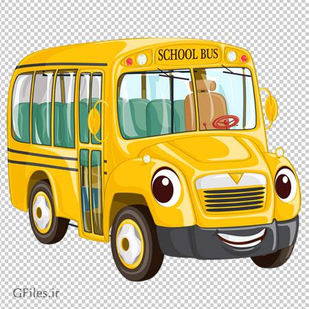 فایل کارتونی و دوربری شده اتوبوس مدرسه