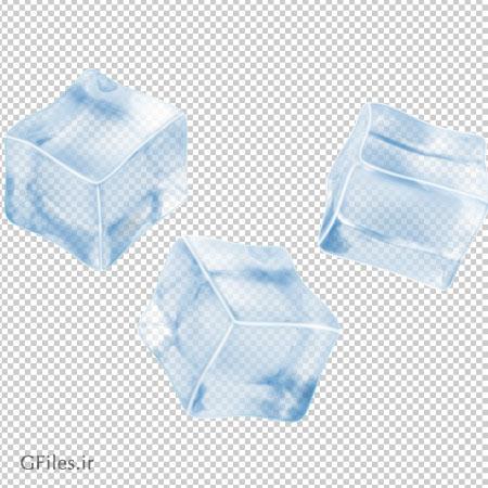 فایل با کیفیت قطعه های یخی بدون پس زمینه